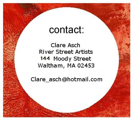 Contact information for Boston area artist Clare Asch